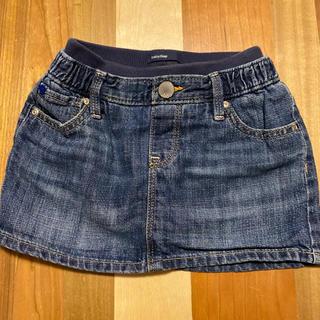 ベビーギャップ(babyGAP)の美品♡パンツ付きデニムスカート(スカート)