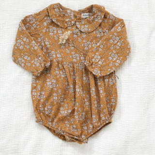 キャラメルベビー&チャイルド(Caramel baby&child )の美品♡ ロンパース マスタード(その他)