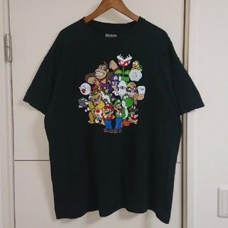 ニンテンドウ(任天堂)のスーパーマリオ Tシャツ ゲームキャラ古着 デカプリント ビッグシルエット (Tシャツ/カットソー(半袖/袖なし))