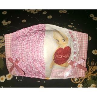 ピンクハウス(PINK HOUSE)のハンドメイド インナーマスク ピンクハウス ハートを持ったキューピー フリル(その他)