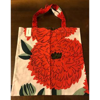 マリメッコ(marimekko)の最終値下げ マリメッコ プリマヴェーラ トートバッグ レッド オレンジ(トートバッグ)