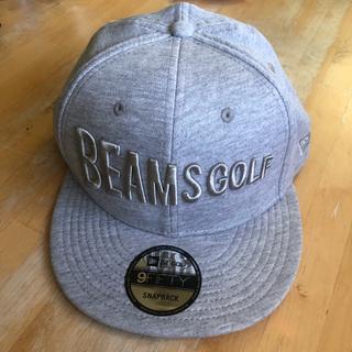 ビームス(BEAMS)のBEAMS GOLF × NEW ERA キャップ 新品未使用 グレー(ウエア)