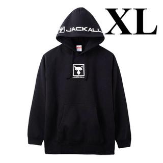 ジャッカル(JACKALL)の新品未試着 希少サイズ ジャッカル プルオーバーフーディ【ブラック/ XL】(ウエア)