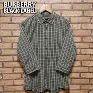 BURBERRY BLACK LABEL - BURBERRY BLACK LABEL  七分袖  シャツ