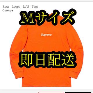 シュプリーム(Supreme)のsupreme Box Logo L/S Tee ORANGE Mサイズ(Tシャツ/カットソー(七分/長袖))