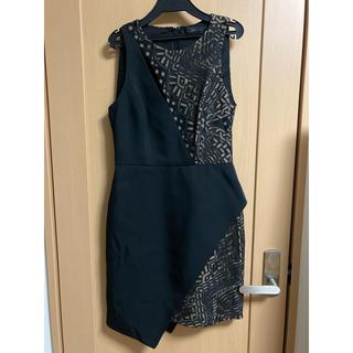 ビーシービージーマックスアズリア(BCBGMAXAZRIA)のBCBG 膝丈ワンピースドレス(ミディアムドレス)