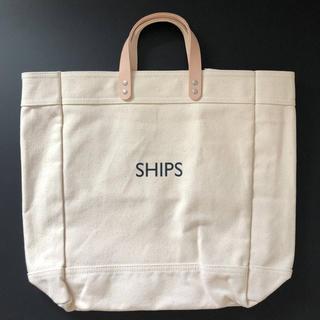 シップス(SHIPS)のYANASE X SHIPS キャンバスレザートートバッグ(トートバッグ)