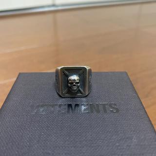 バレンシアガ(Balenciaga)のvetements ヴェトモン スカル シルバー リングXS指輪 silver(リング(指輪))