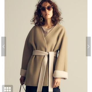ミラオーウェン(Mila Owen)のミラオーウェン  ベルト付き ノーカラーリバージャケット コート(ノーカラージャケット)