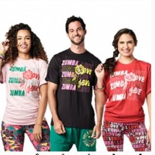 ズンバ(Zumba)の【正規品】最新作ズンバTシャツ(黒)1枚(Tシャツ/カットソー(半袖/袖なし))