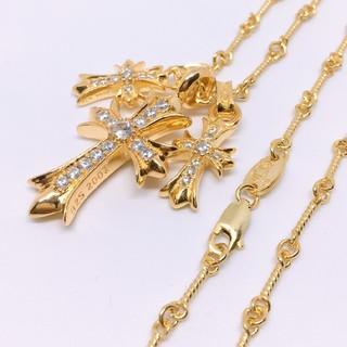 最高品質✨クロス豪華4点セット✨22k GOLD plating ネックレス
