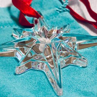 ティファニー(Tiffany & Co.)のティファニー クリスタル クリスマスツリー オーナメント スター(インテリア雑貨)