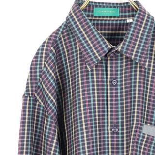 カルヴェン(CARVEN)のCARVEN PARIS ギンガムチェック シャツ 長袖 ポケット(シャツ)