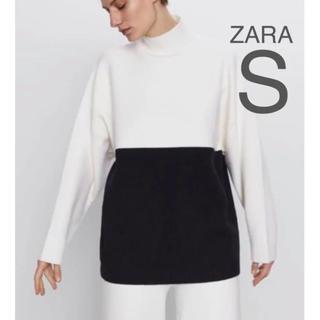 ザラ(ZARA)の【新品・未使用】ZARA カラーブロック セーター ニット S(ニット/セーター)