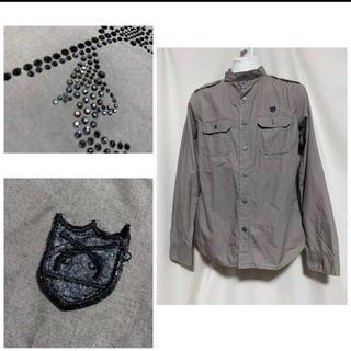 ロアー(roar)のroar ロアー クロスガンスワロフスキー ワッペンシャツジャケット 2 M(シャツ)