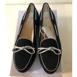 アシックス(asics)のアシックス  ジーロ  JIRO ローヒール フラットシューズ 23cm(ローファー/革靴)