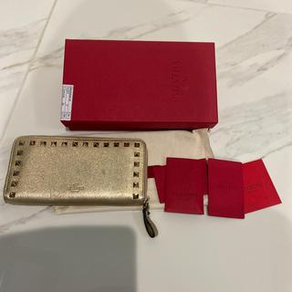 ヴァレンティノ(VALENTINO)のヴァレンティノ 長財布 正規品 ゴールド(長財布)