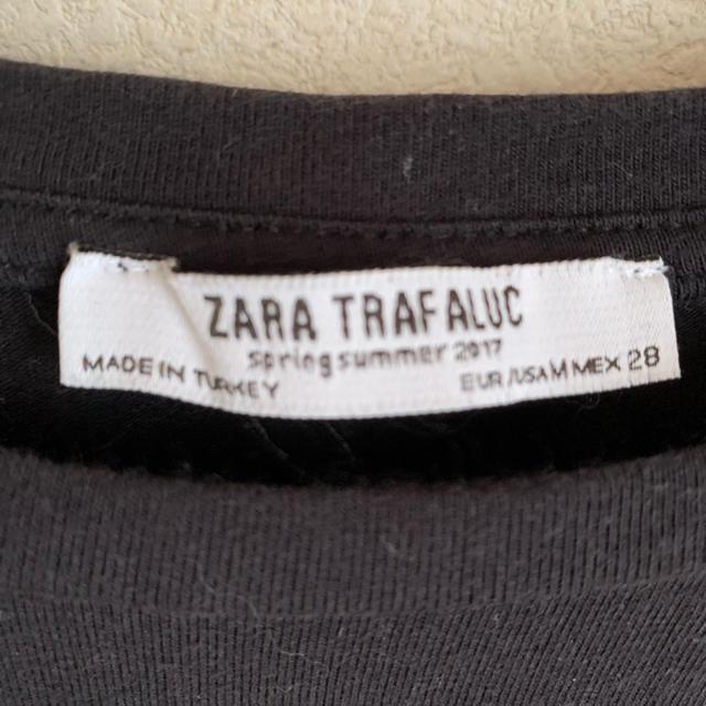 ZARA(ザラ)の本日終了 zara トップス ブラック レディースのトップス(カットソー(半袖/袖なし))の商品写真
