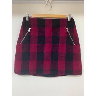 ギャップ(GAP)のブロックチェック台形スカート(ミニスカート)