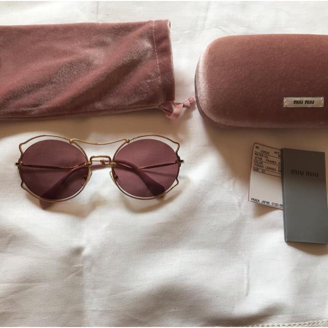 miumiu(ミュウミュウ)のmiumiu レディースのファッション小物(サングラス/メガネ)の商品写真