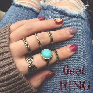 6個セットリング ファランジ ボヘミアン(リング(指輪))