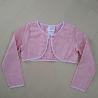 ローラアシュレイ(LAURA ASHLEY)のLaura ashley ピンクの長袖ボレロ 110(ドレス/フォーマル)