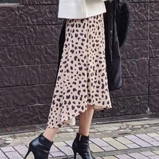 リエンダ(rienda)のリエンダ レオパードスカート(ひざ丈スカート)