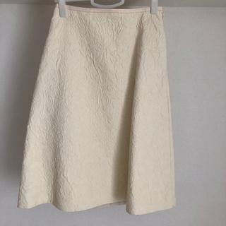 ドゥロワー(Drawer)のDrawer ドゥロワー織柄入りスカート(ひざ丈スカート)