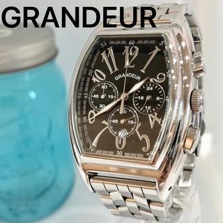 グランドール(GRANDEUR)の111 グランドール時計 メンズ腕時計 新品電池 クロノグラフ(腕時計(アナログ))