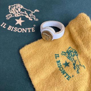 イルビゾンテ(IL BISONTE)の【IL BISONTE】レザーピンキーリング(リング(指輪))