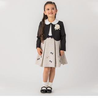 プティマイン(petit main)の着用1時間♡petit main フォーマルワンピース&靴 set(ドレス/フォーマル)