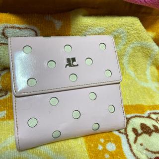 クレージュ(Courreges)のクレージュのピンクのお財布❣️可愛いサイズです!古い財布ですので格安で❗️(財布)