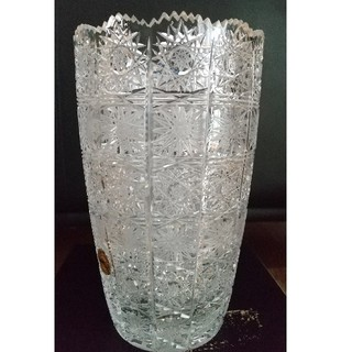 ボヘミア クリスタル(BOHEMIA Cristal)の花瓶 ボヘミア、チェコクリスタル(花瓶)
