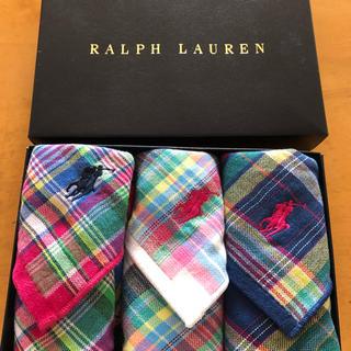 Ralph Lauren - ラルフローレン  ミニタオル  タオルハンカチ3枚