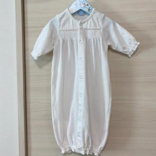 ミキハウス(mikihouse)の美品 ミキハウス ツーウェイオール 50 60 セレモニードレス ロンパース 白(セレモニードレス/スーツ)