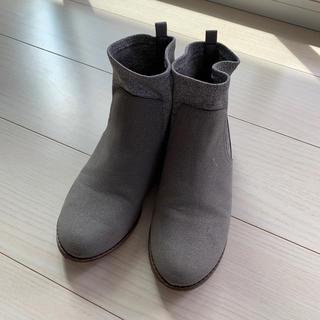ザラ(ZARA)のZARA ショートブーツ 22、5cm 36 シルバー ブーツ(ブーツ)