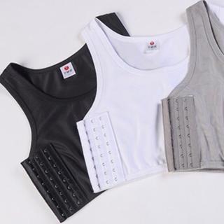 【黒】 XL コスプレ 男装 ナベシャツ トラシャツ 胸つぶしシャツ(コスプレ用インナー)
