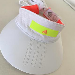アディダス(adidas)のadidas golf バックリボンサンバイザー(サンバイザー)