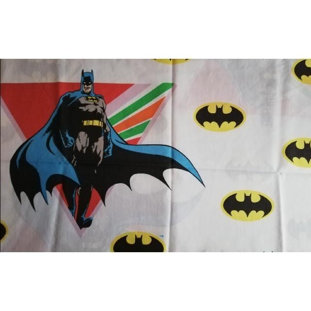 MARVEL(マーベル)のビンテージシーツ アメコミヒーロー BATMAN カットシーツ ハンドメイドの素材/材料(生地/糸)の商品写真