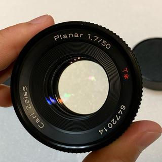 キョウセラ(京セラ)のCONTAX Carl Zeiss Planar 50 F1.7 AEJ 超美品(レンズ(単焦点))