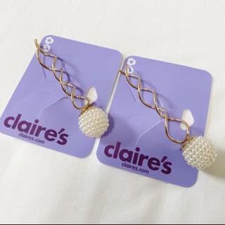 クレアーズ(claire's)のクレアーズ♡スクリューピン♡パール♡2本セット(ヘアピン)
