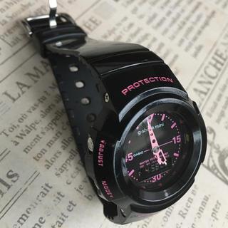 ジーショック(G-SHOCK)のG-SHOCK mini  ブラック×ピンク(腕時計)