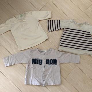 サンカンシオン(3can4on)の80サイズ トップス 3枚セット(Tシャツ)