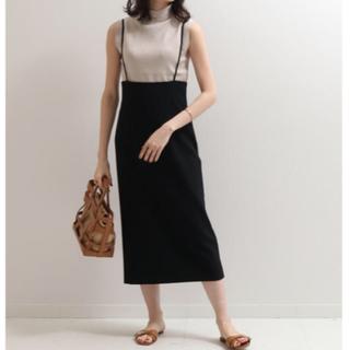 ノーブル(Noble)のNoble ショルダーストラップチェックタイトスカート 新品未使用(ひざ丈スカート)