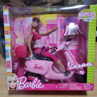 バービー(Barbie)の【限定レア】ピンクバイクバービー vespa barbie マテル ベスパ(キャラクターグッズ)