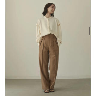 shoulder cut over blouse - ecru / FREE(シャツ/ブラウス(長袖/七分))