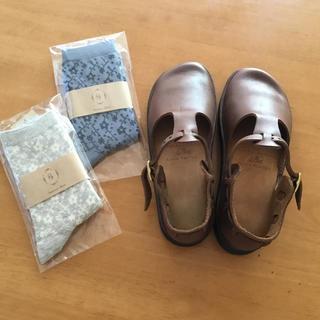 ビルケンシュトック(BIRKENSTOCK)のオーロラシューズ新品未使用 靴下付き(その他)