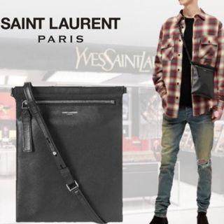 サンローラン(Saint Laurent)のSAINT LAURENT サンローラン レザー クロスボディバッグ(ショルダーバッグ)