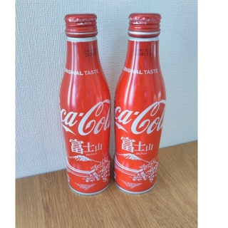 コカコーラ(コカ・コーラ)のコカ・コーラスリムボトル富士山 逆さ富士(ノベルティグッズ)