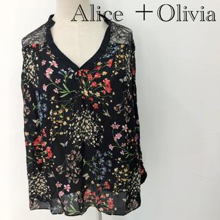 アリスアンドオリビア(Alice+Olivia)のアリス+オリビア 花柄 シャツ ブラウス(シャツ/ブラウス(長袖/七分))